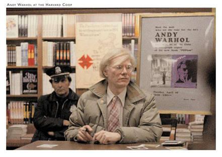 Andy Warhol at the Harvard Coop Custom Postcard